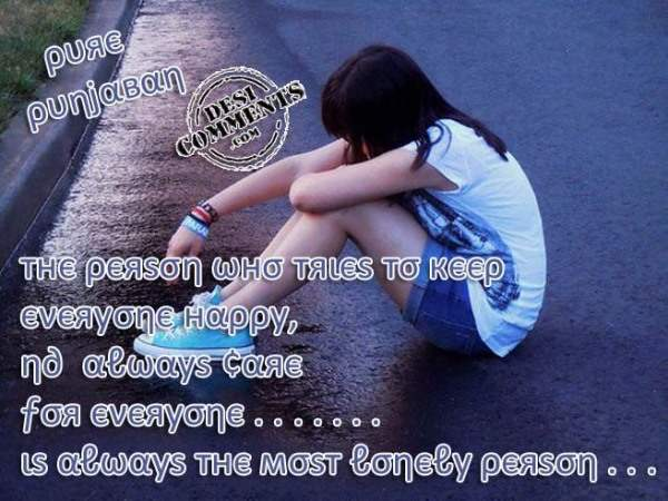 The most lonely person…