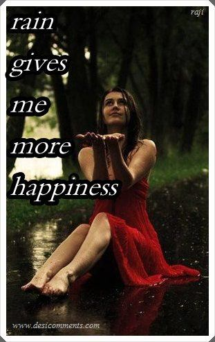 Picture: Rain gives me more happiness