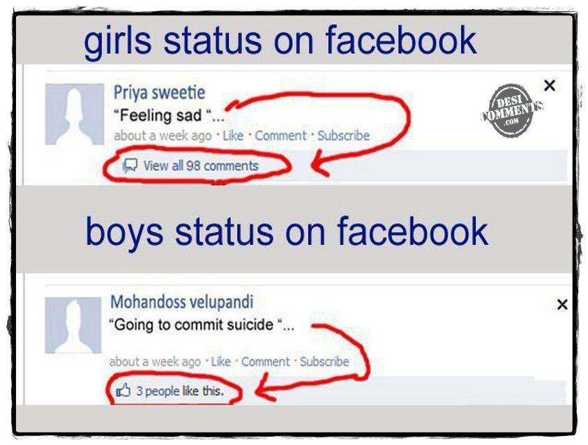 facebook comments for girl