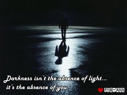 Darkness isn't the absence of light
