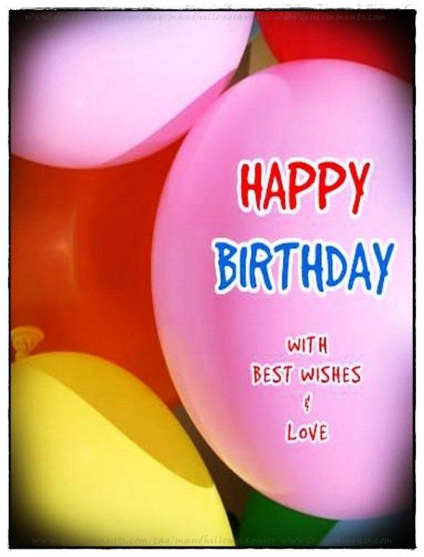 Happy Birthday With Best Wishes & Love