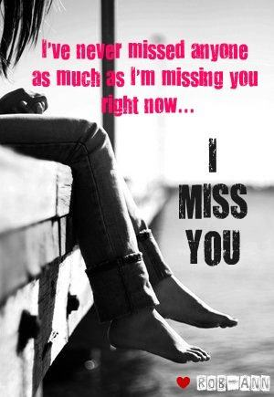 I am missing you right now - DesiComments.com