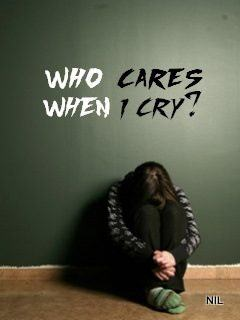 Who cares when I cry?