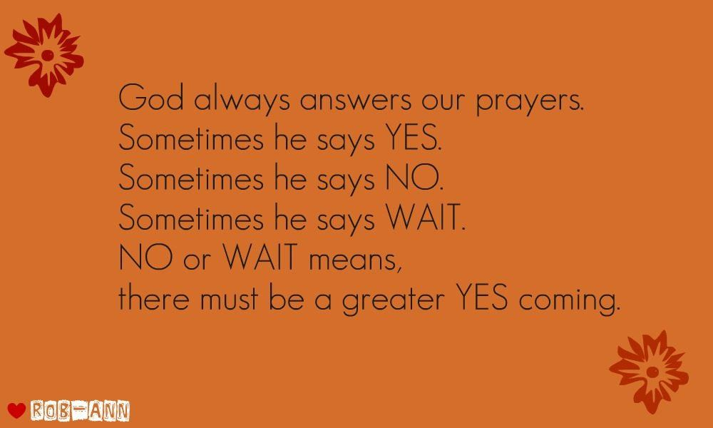 God Always Answers Our Prayers Desicomments Com