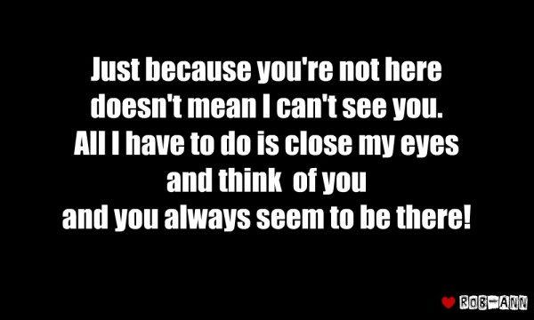 You always seem to be there