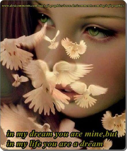 In my dream you are mine