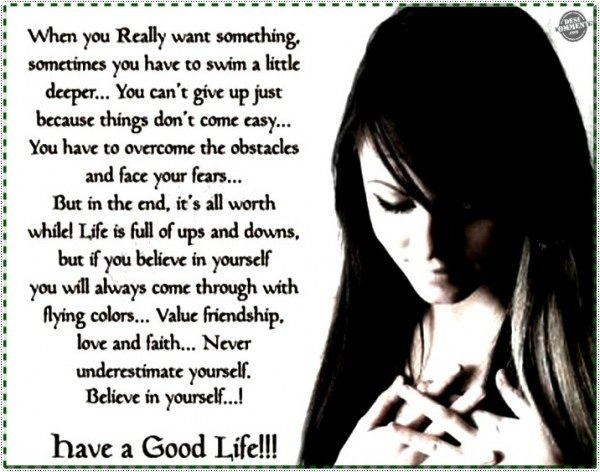 Have a good life