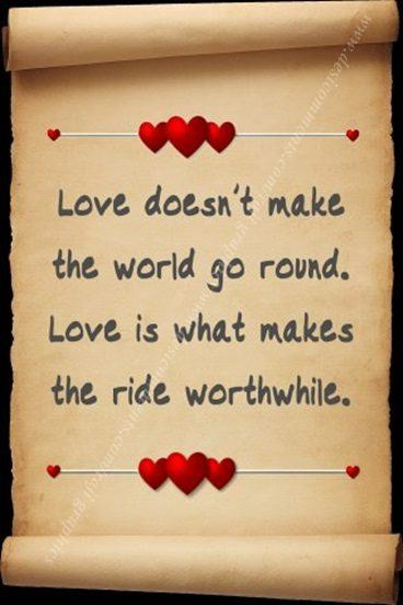 love doesnt make the world go round