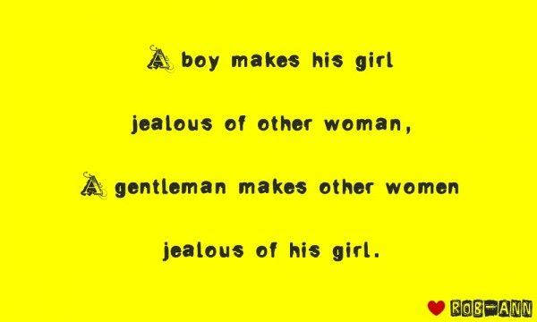 A gentleman makes other woman jealous of his girl