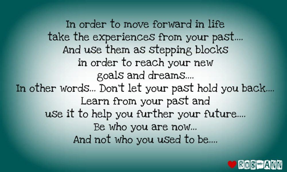 Learn From Your Past…