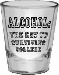Alcohol : The key to surviving college