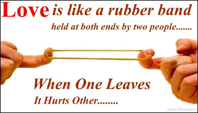 Love Is Like Quotes Funny : Love is like a rubber band - DesiComments.com