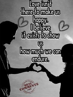 Love isn't there to make us happy