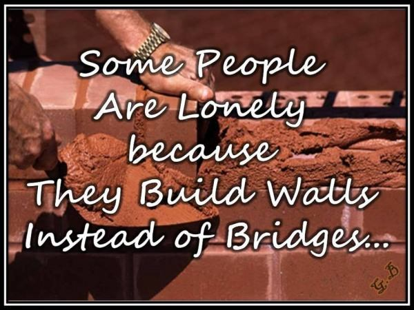 Some people are lonely because...