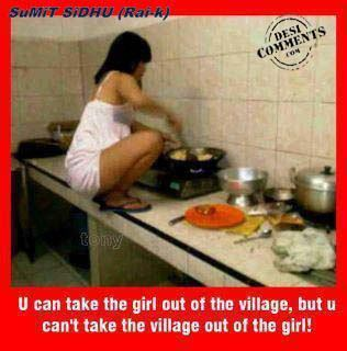 You can't take the village out of the girl