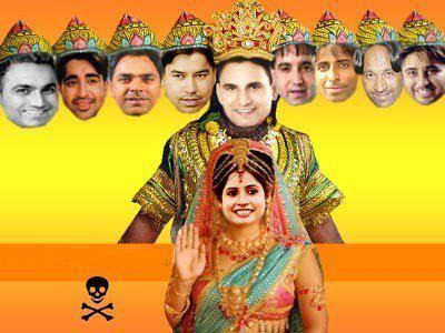 Miss Pooja Funny Picture