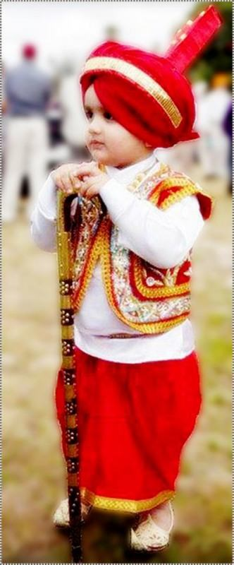 Little Punjabi Boy In Traditional Punjabi Dress