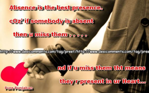 Absence is the best