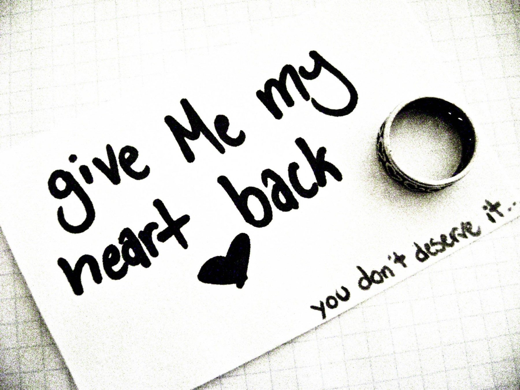 Give me my heart back for U and me pictures