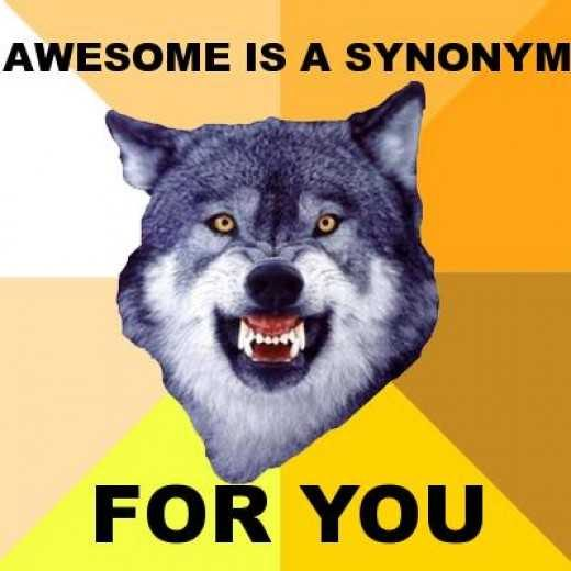 Awesome is a synonym