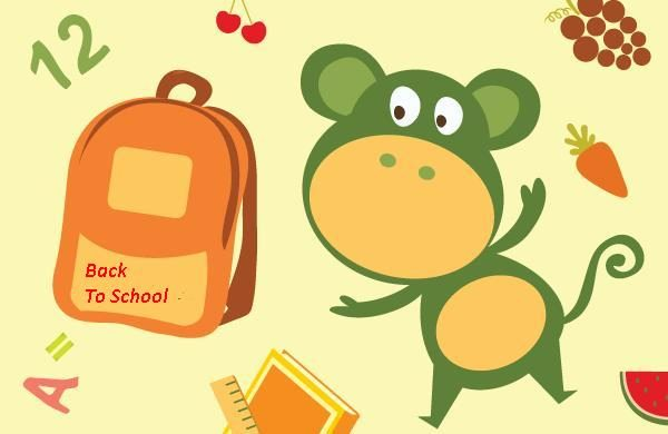 Back to school with school bag