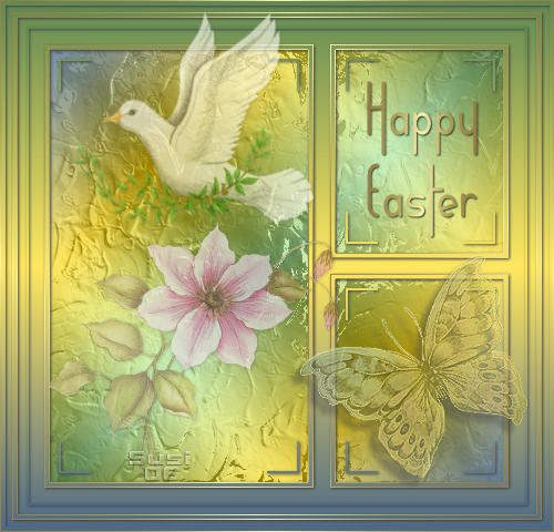 Happy easter greeting card pic