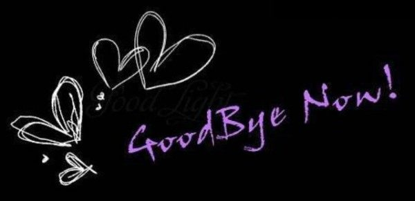 Good bye now