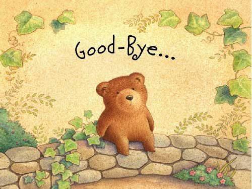 Bear good bye