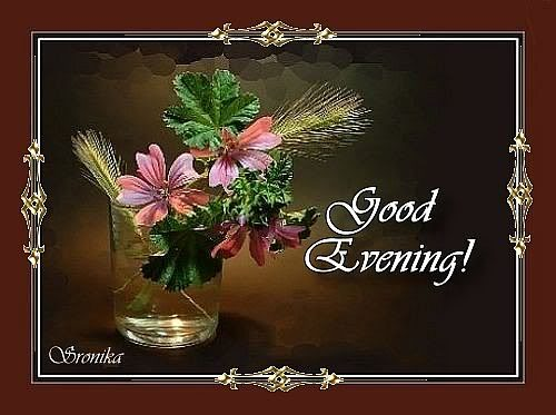 Good Evening With Awesome Photo Frame Desicommentscom