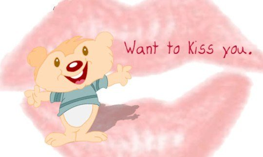 Want to kiss you
