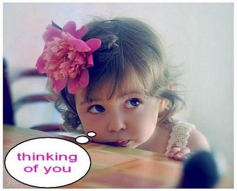 Cute baby was thinking of you
