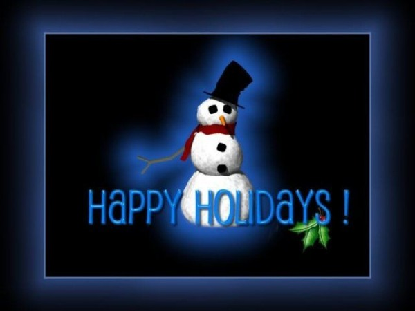 Happy holidays with cute picture