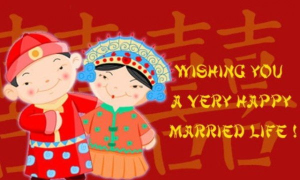 Wishing you a very happy married life
