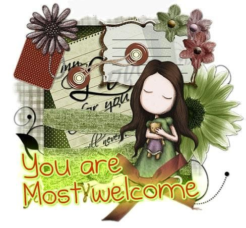 You are most welcome - DesiComments.com  You are most we...