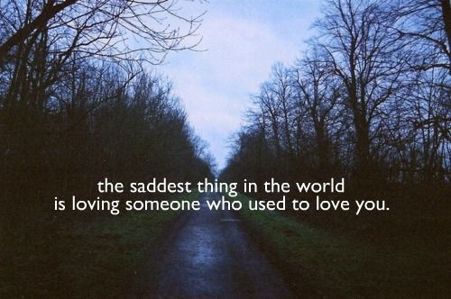 The saddest thing in the world