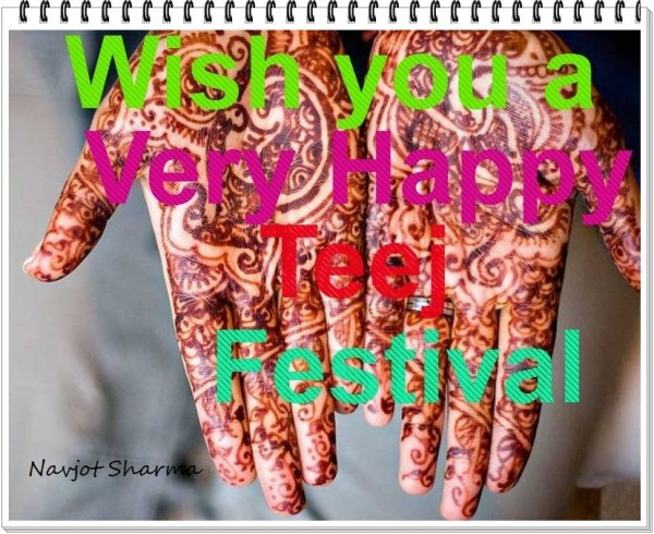 Wish you very happy teej festival