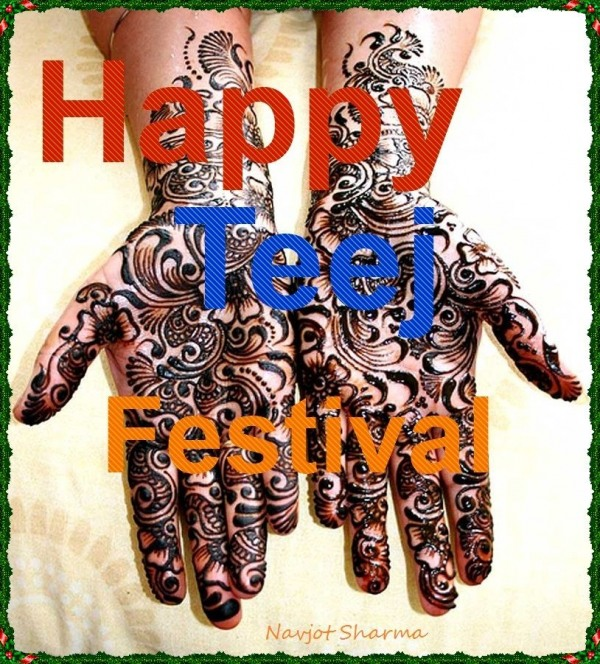 Wish you happy teej festival