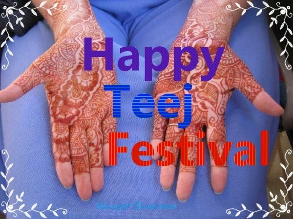 Happy teej festival