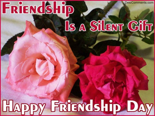 Friendship Is A Silent Gift