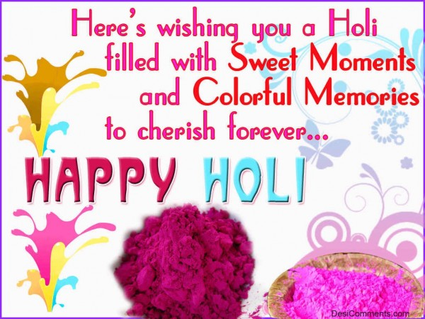 Wishing You A Holi Filled With Sweet Moments