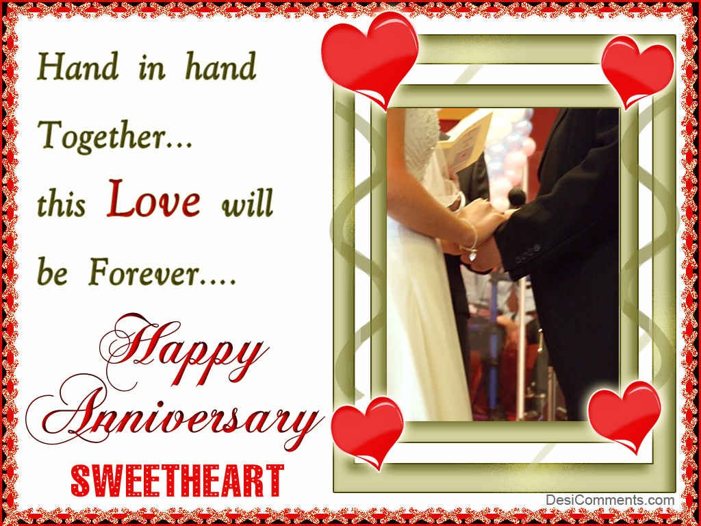 Happy Anniversary Sweetheart - DesiComments.com