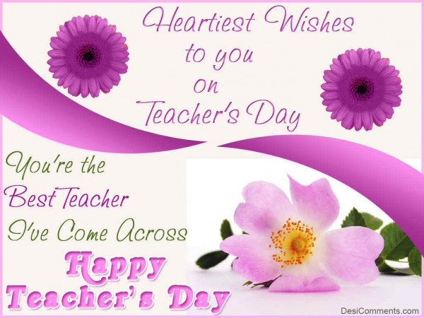 Heartiest Wishes To You On Teacher's Day