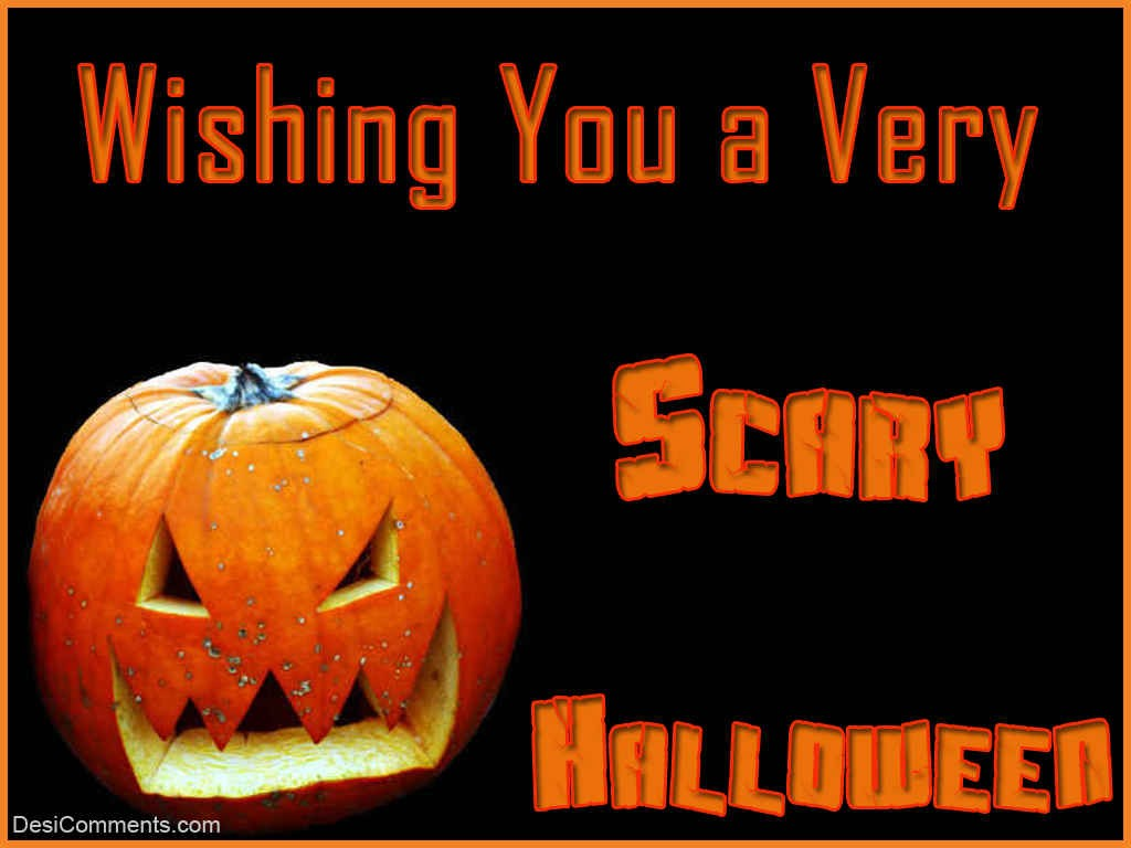 wishing you a very scary halloween - desicomments