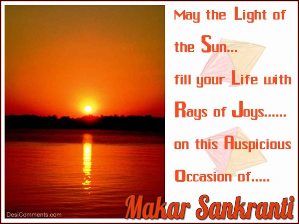 May The Light Of The Sun Fill Your Life