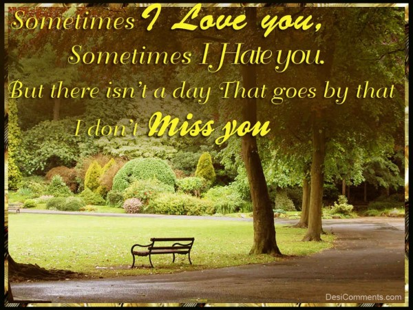 I Love You and Miss You