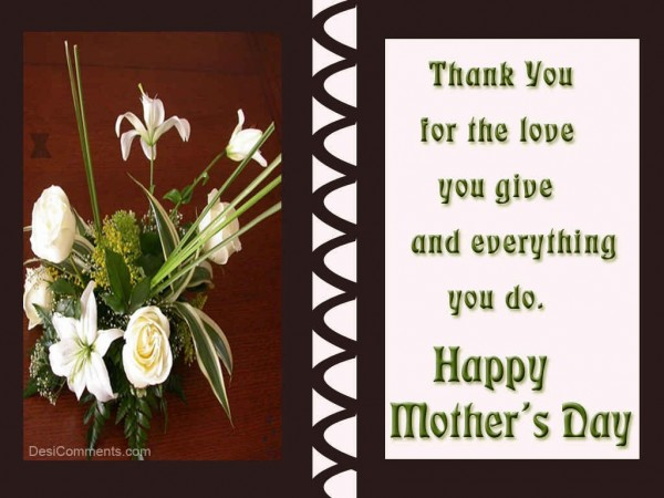Thank You Mother For Your Love