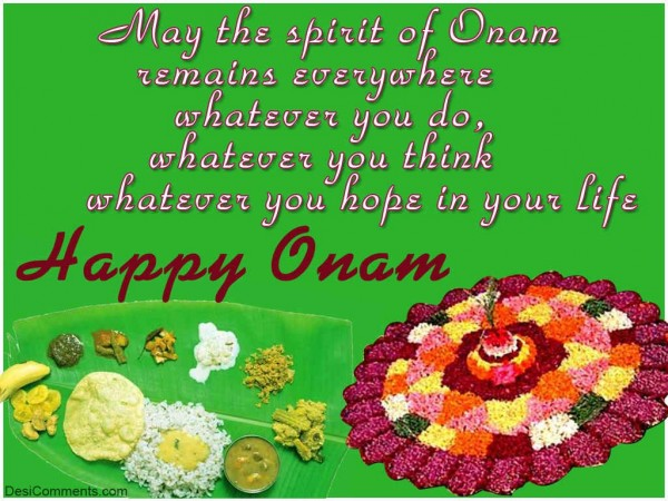 Wishing You A Very Happy Onam