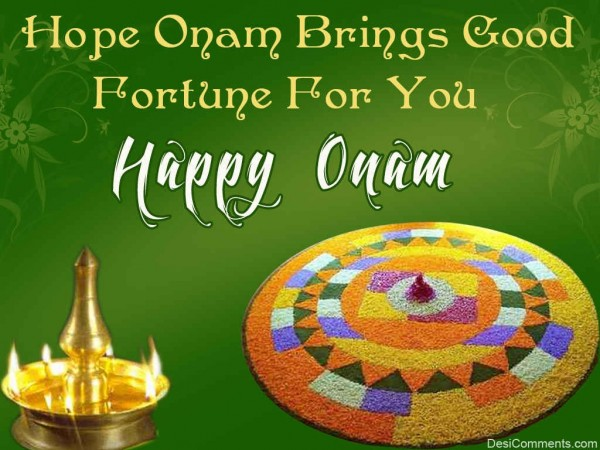 Hope Onam Brings Good Fortune For You