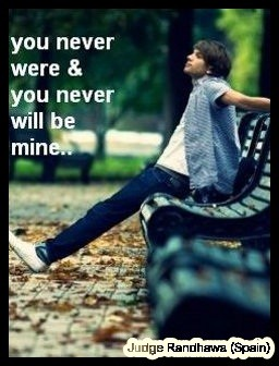 You Were Never...