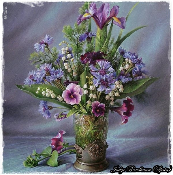 Painting of beautiful flowers for Pretty flower paintings